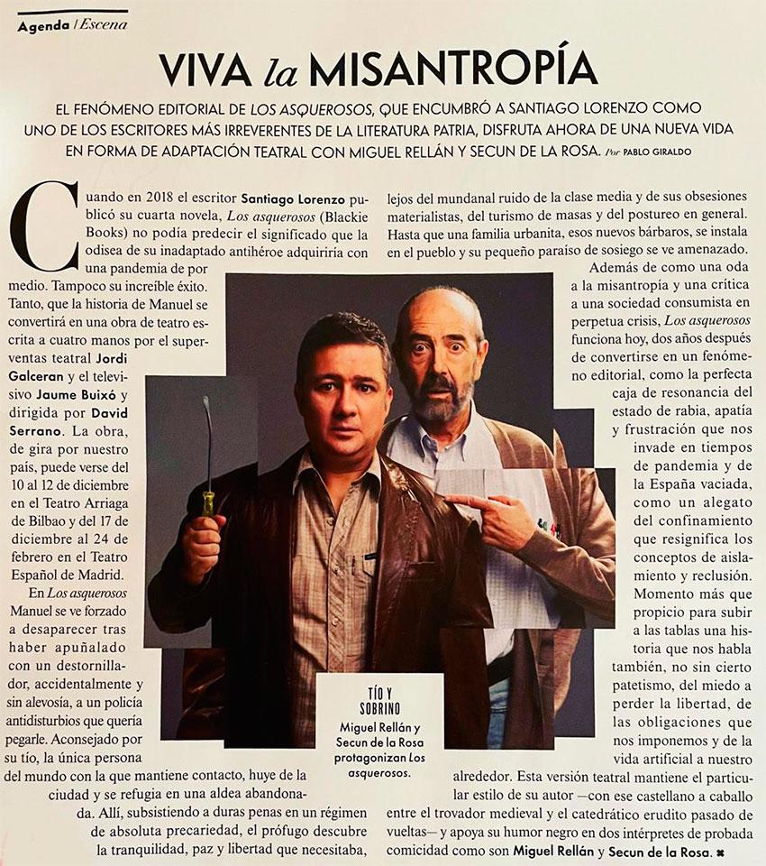 Vanity Fair España diciembre 2020 los asquerosos